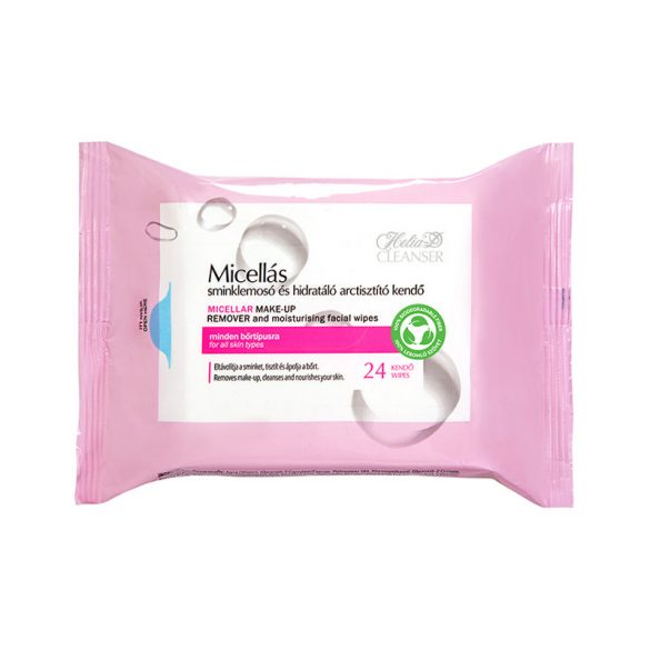 Helia-D Micellás sminklemosó és hidratáló arctisztító kendő 24 db