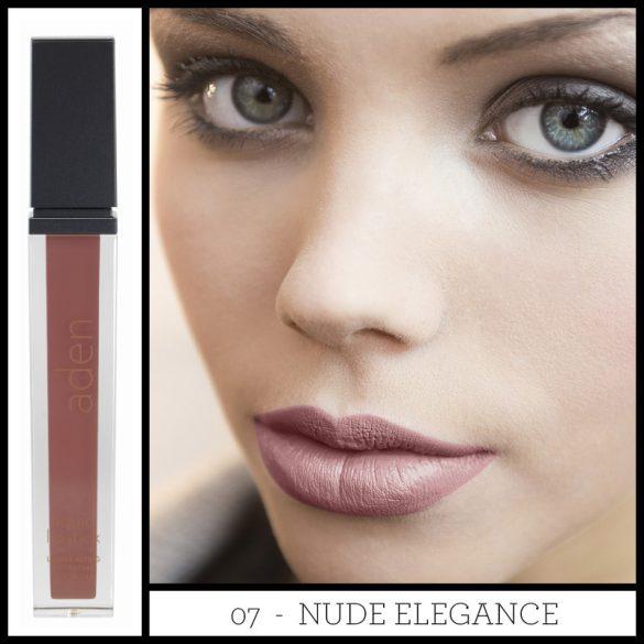 Aden Folyékony Ajakrúzs és szájkontúr ceruza szett - Nude Elegance (07)