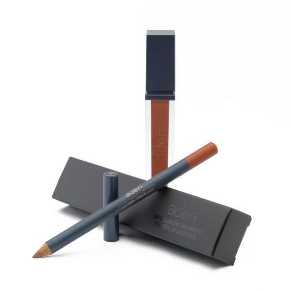 Aden Folyékony Ajakrúzs és szájkontúr ceruza szett - Bronze Sand (16)