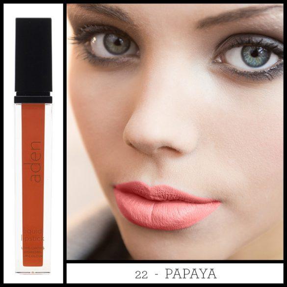 Aden Folyékony Ajakrúzs és szájkontúr ceruza szett - Papaya (22)