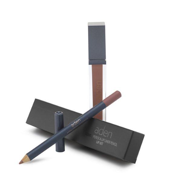 Aden Folyékony Ajakrúzs és szájkontúr ceruza szett - Chinchilla (25)