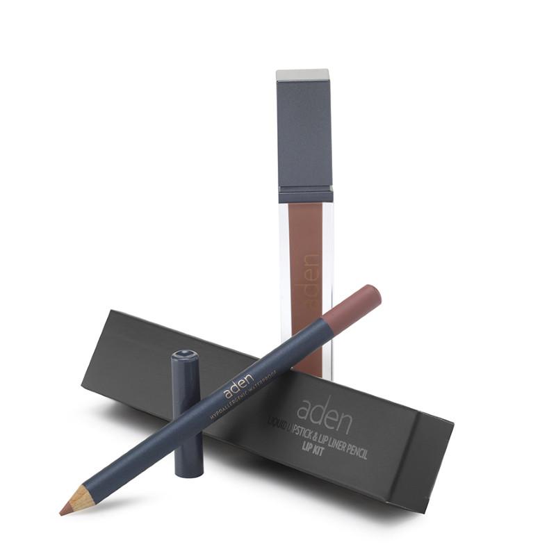 Aden Folyékony Ajakrúzs és szájkontúr ceruza szett - Force