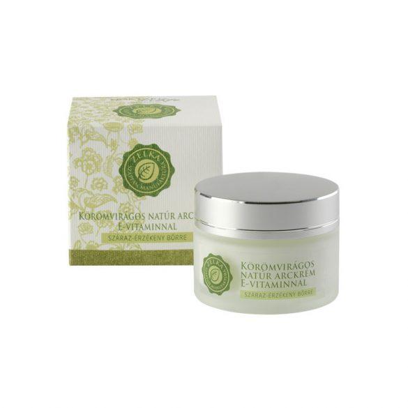 Zelka Körömvirágos natúr arckrém E-vitaminnal száraz bőrre