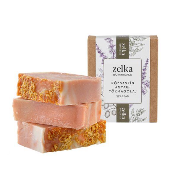 Zelka Rózsaszín agyagreszelékes szappan