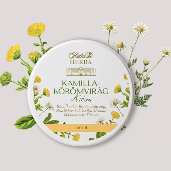 Helia-D Herba Kamilla Körömvirág krém