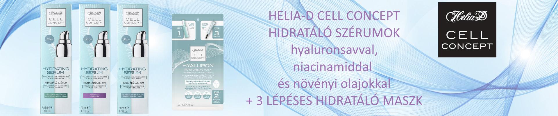 Helia-D Cell Concept hidratáló szérumok és maszk
