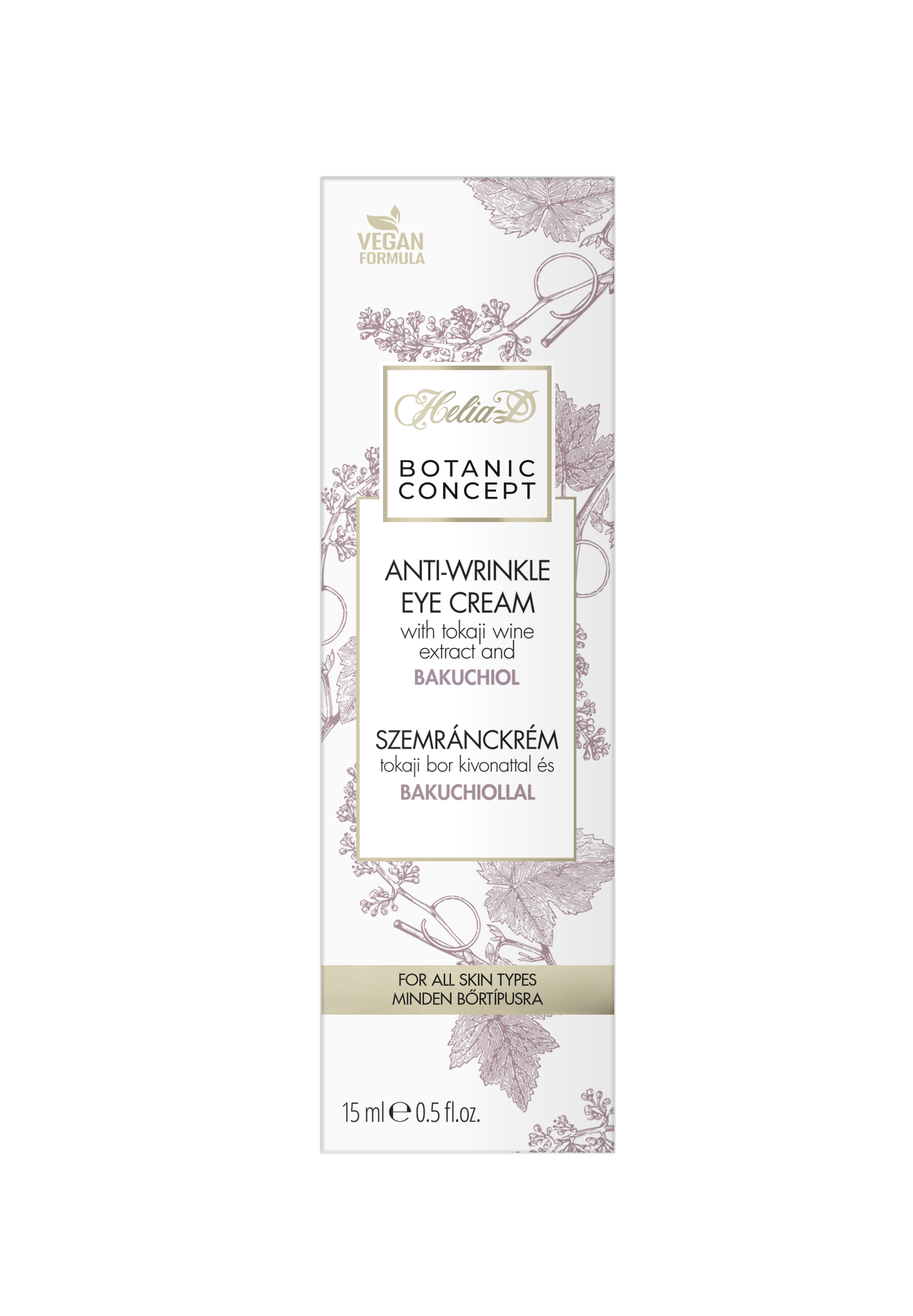 Helia-D Botanic Concept szemránckrém Tokaji bor kivonattal